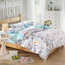 product description grass printed comforter white plain bedlinen cozy cotton