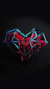 Heart Abstract Digital Art 4K Wallpaper ...