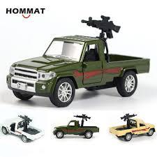 HOMMAT Simulation 1:28 Military Pickup Truck w/ Machine Gun Army ...
