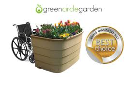 Small Picture Green Circle Garden Wheelchair Accessible Raised Beds For