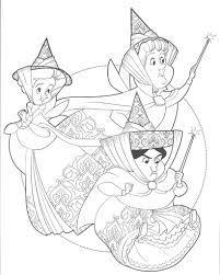 Tranh tô màu công chúa ngủ trong rừng - Jadiny