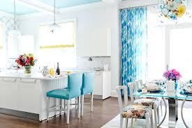 aqua kitchen curtains blue colored