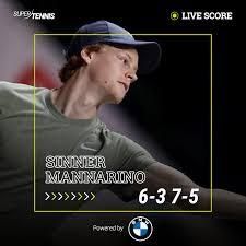 SuperTennis TV - 💥 F I N A L E ! 💥 Prima finale in carriera in un #ATP250  per Jannik Sinner che a Sofia sconfigge Mannarino in due set 6-3 7-5. Forza  Jannik!! 💪🏼💪🏼 #tennis BMW Italia