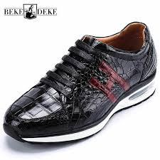 Black <b>Genuine Leather</b> Brand Casual Mens Sneakers Business ...