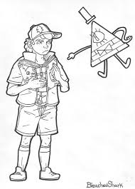 Gravity Falls Coloring Pages Bill
