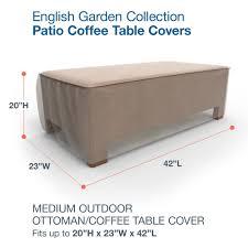 budge english garden patio ottoman coffee table covers medium 20 h x 23 w x 42 long tan tweed com