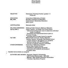Objective For Teacher Resume Sample Resume Objective For Teacher Position Archives Gotraffic 51