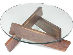 ion design plank walnut 36 round coffee table with glass top