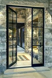 steel frame glass doors door metal small size of hanging picture frames stee