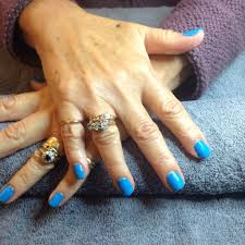 Lovely shellac nails, with the brand new colour Digi-teal from the ...