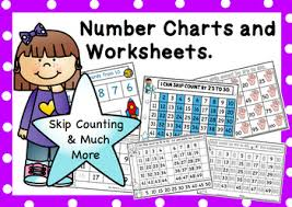 Odd And Even Numbers Chart Number Charts And Worksheets For Skip Counting Counting Odd And Even Numbers