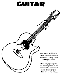 Small Picture Guitar Coloring Page crayolacom
