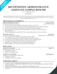 Resume Examples For Receptionist Sample Resumes For Receptionist Resume Sample Resume Bilingual 29