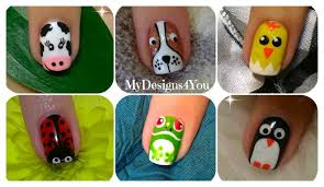 Animal Nail Art No.1 ♥ - YouTube