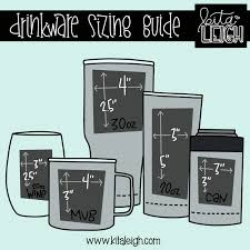 Stemless Wine Glass Decal Size Chart Blog Ish Kitaleigh