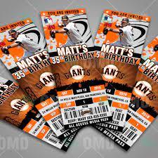 San Francisco Giants Ticket Style ...