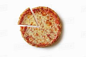 plain cheese pizza. Exellent Plain Plain Cheese Pizza With A Slice Removed On White Background From Above Inside N