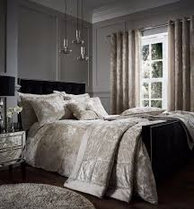 catherine lansfield crushed velvet luxury natural duvet cover bedding set