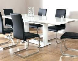 white gloss dining table and 6 chairs extendable dining table 6 chairs black gloss dining table