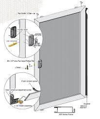 economy sliding screen door schematic