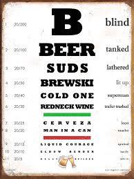 Beer Eye Chart Sign