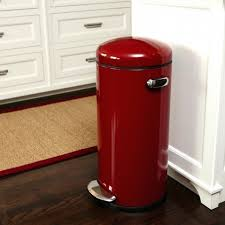 vintage metal kitchen trash cans retro kitchen garbage can red in large kitchen garbage can decorating