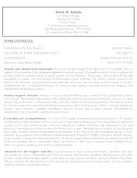 Law Enforcement Resume Cover Letter Examples Security Guard Cover