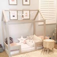 Toddler House Bed Frame + railings + mattress slats Made in US