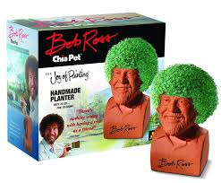 com chia pet bob ross the joy of painting decorative pottery planter easy to do and fun to grow novelty gift perfect for any occasion contains