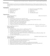 House Cleaning Resume Mkma Classy House Cleaning Resume