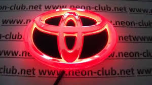 Chip tuning 4D emblem toyota parts & accessories led badge, toyota ...