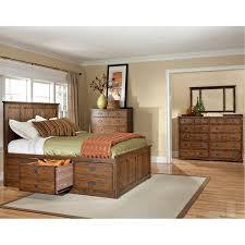 mission oak 7 piece king storage bedroom set oak park