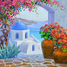 oil painting santorini greece best 2018