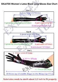 Rubber Finger Tip Size Chart Us 29 99 Latex Gloves Women Mittens Latex Long Gloves Outfits Rubber Fetish Fashion Costume Accessory 60cm Gloves In Womens Gloves From Apparel