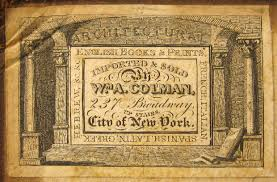 gallery of book trade labels william a colman new york new york 50mm x 32 5mm