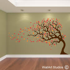 fall leaves wall decor home decorating ideas