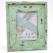 distressed coastal vintage wooden photo picture frame