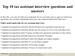 top 10 tax assistant interview questions and answers in this file you can ref interview tax assistant