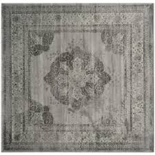safavieh vintage gray multi 8 ft x 8 ft square area rug