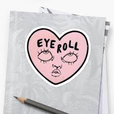 Aesthetic cute drawing Artsy Eyeroll Pink Aesthetic Soft Drawing Bold Sticker Paigeeworld Eyeroll Pink Aesthetic Soft Drawing Bold Sticker