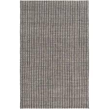 oskar felted wool striped rug grey hand woven casual area 5 x on