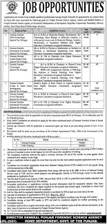 punjab forensic science agency home department punjab jobs  punjab forensic science agency home department punjab jobs