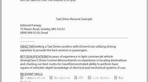 Uber Driver Resume Examples Free Download