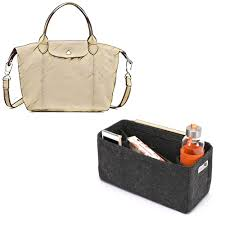bag and purse organizer with regular style for longchamp le pliage cuir small handbag