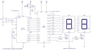 adc circuit diagram the wiring diagram digital voltmeter using 8051 microcontroller at89s51 circuit circuit diagram