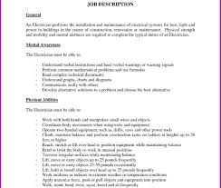 Cover Letter Electrician Maintenance Sample Resume Template No