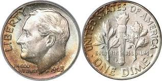 Us Silver Coin Chart Us Roosevelt Silver Dime 1948 1964 Us Coin Images Facts