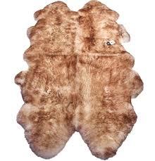 hanlin natural quad sheepskin rug wolf