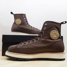 converse ct crafted boot hi men s size 10 chocolate leather chuck taylor