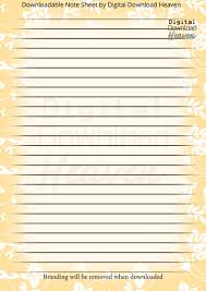 Digital Download Writing Paper Notepaper Journaling Floral Print